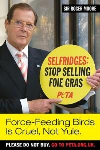 Roger Moore is tegen foie gras